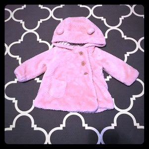 Tahari Baby 3-8 MO faux fur coat with hood